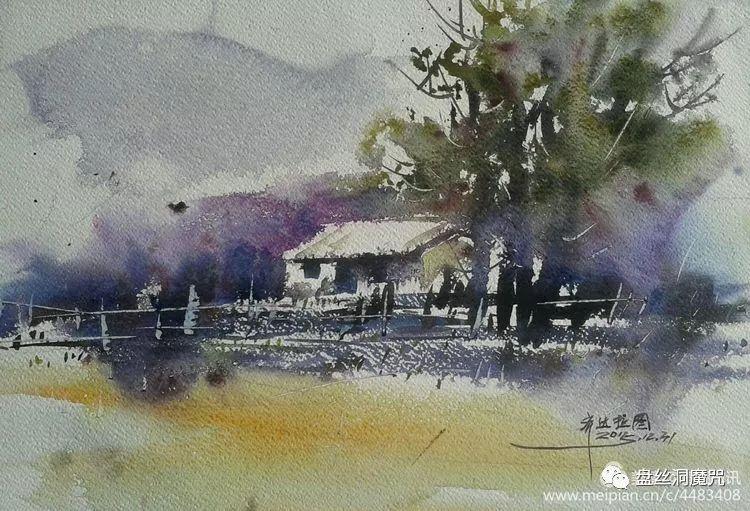 齐达拉图水彩作品欣赏 第2张