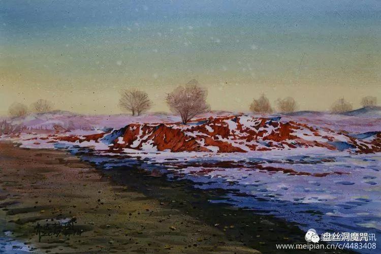 齐达拉图水彩作品欣赏 第21张