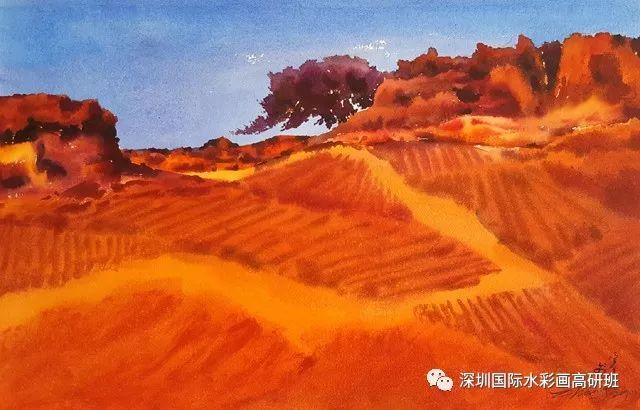 张曙光最新水彩作品欣赏 第3张
