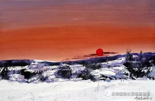 张曙光最新水彩作品欣赏 第8张