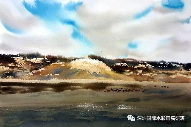 张曙光最新水彩作品欣赏 第24张