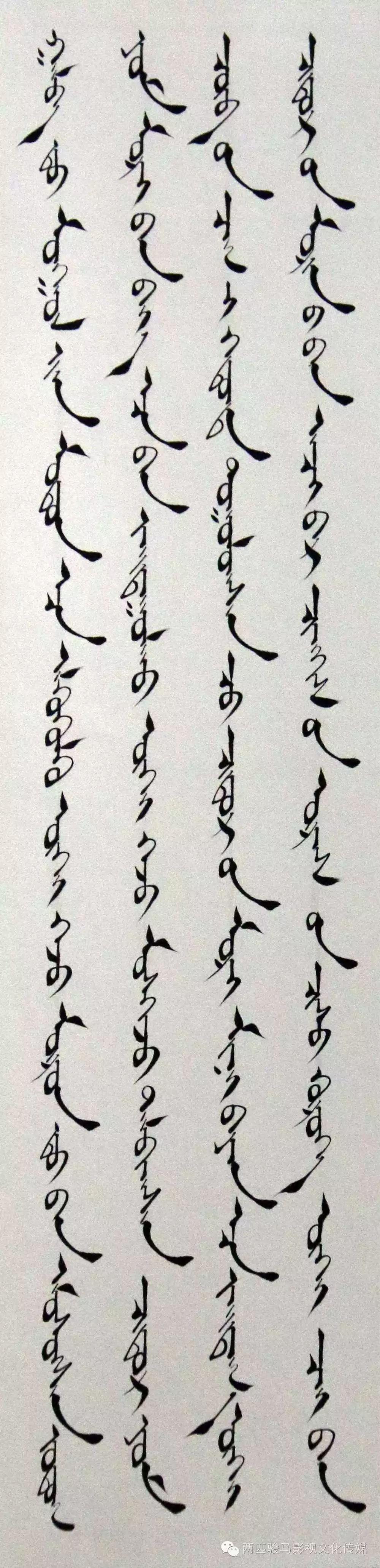 【艺术】2016年通辽市蒙古文书法大赛获奖作品欣赏 第1张