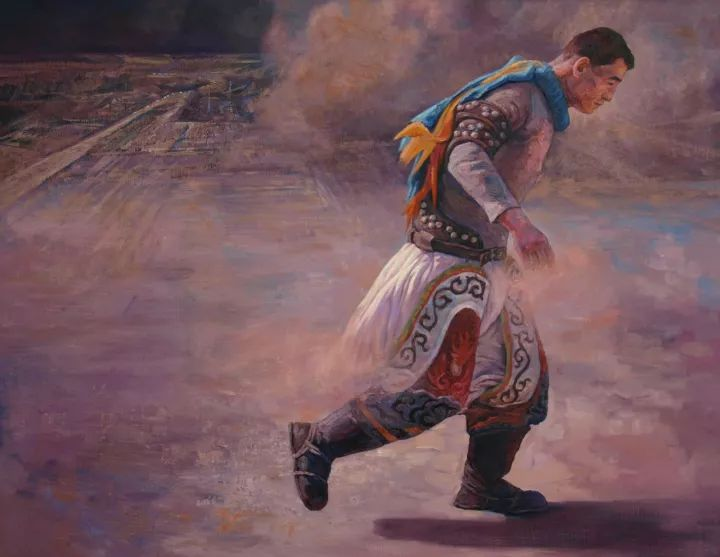 【蒙古影像】一位蒙古族画家 用油画记录蒙古的风土人情 第3张