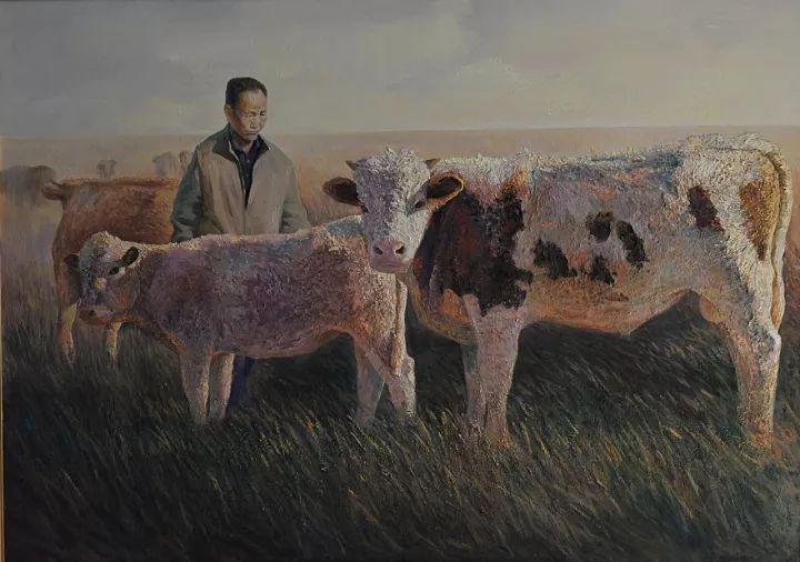 【蒙古影像】一位蒙古族画家 用油画记录蒙古的风土人情 第6张