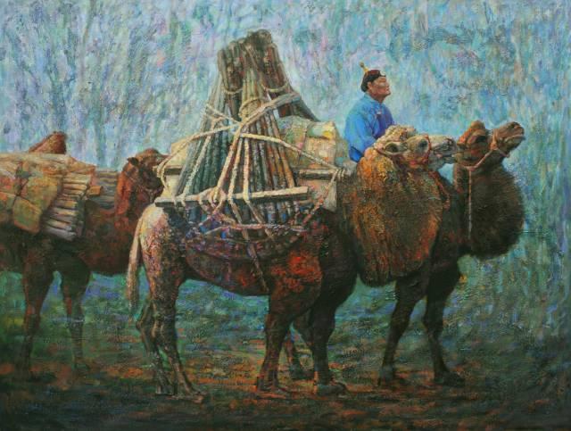 【蒙古影像】一位蒙古族画家 用油画记录蒙古的风土人情 第10张