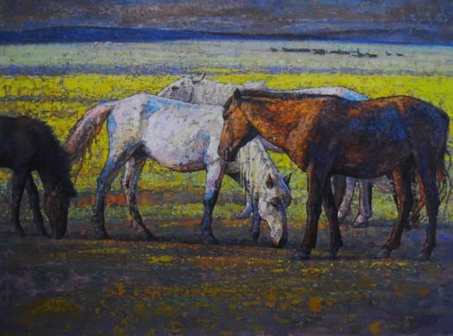 【蒙古影像】一位蒙古族画家 用油画记录蒙古的风土人情 第11张
