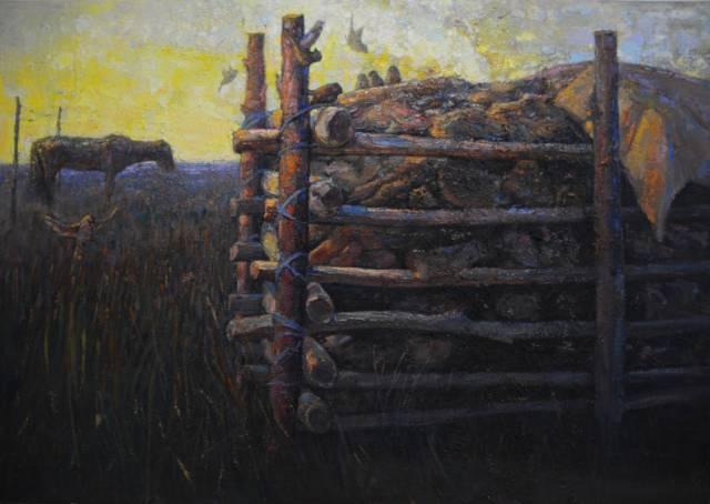 【蒙古影像】一位蒙古族画家 用油画记录蒙古的风土人情 第15张