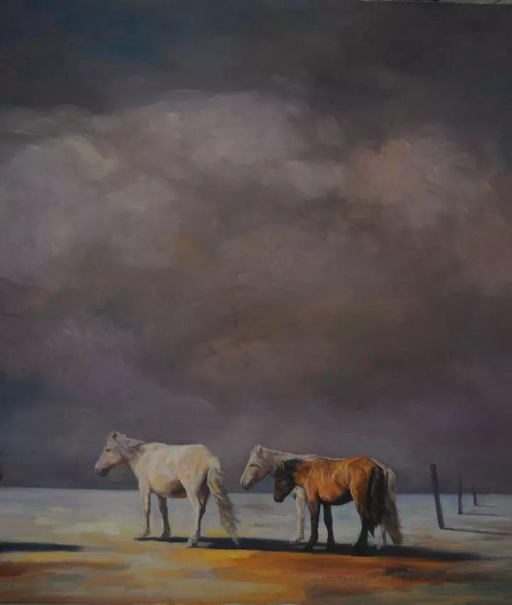 【蒙古影像】一位蒙古族画家 用油画记录蒙古的风土人情 第12张