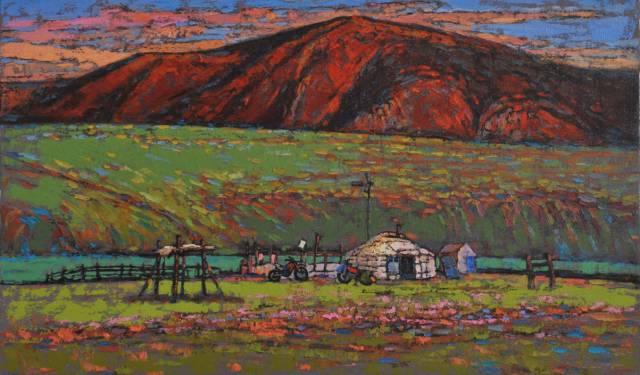 【蒙古影像】一位蒙古族画家 用油画记录蒙古的风土人情 第20张