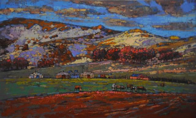 【蒙古影像】一位蒙古族画家 用油画记录蒙古的风土人情 第23张
