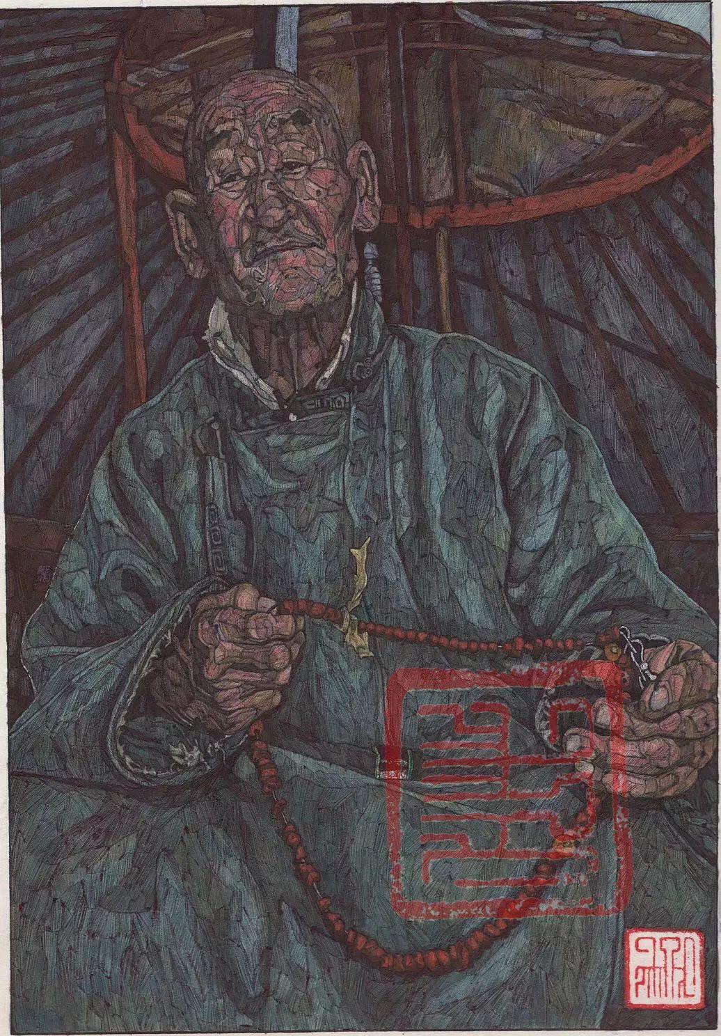 赤乐格尔,一个有态度的画匠。 第17张