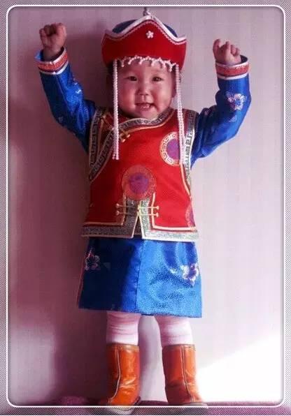 【蒙古服装】儿童蒙古服装展示,非常漂亮! 第20张