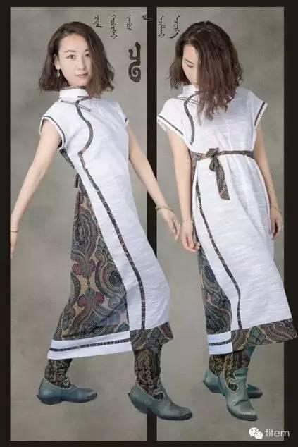 【蒙古服装】蒙古族美女设计师和她的创意作品 第1张