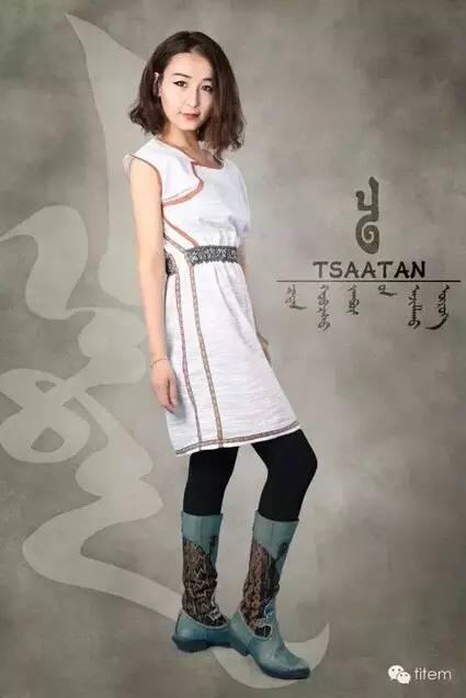 【蒙古服装】蒙古族美女设计师和她的创意作品 第6张
