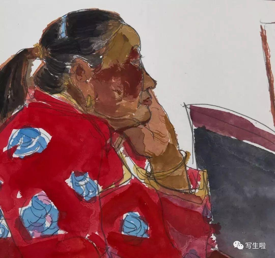 【写生啦】国美教授周刚内蒙古最新写生作品 第3张