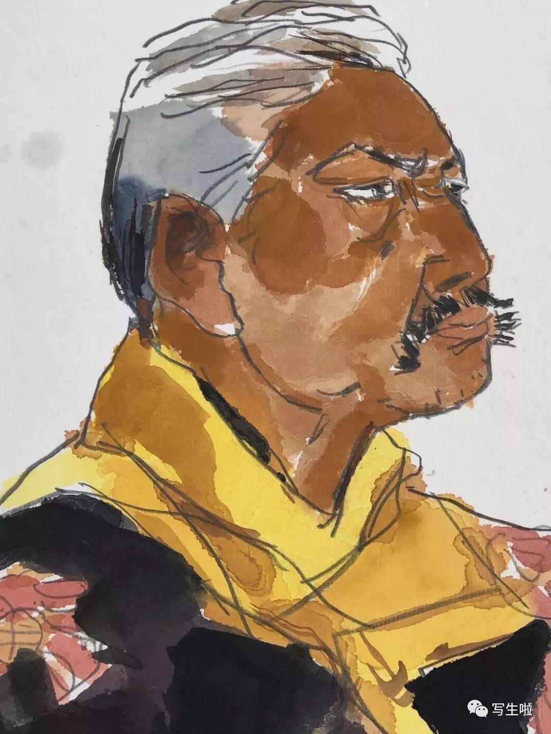 【写生啦】国美教授周刚内蒙古最新写生作品 第8张
