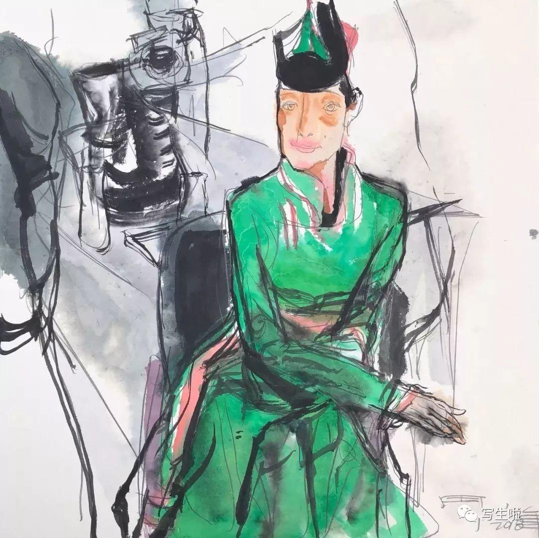 【写生啦】国美教授周刚内蒙古最新写生作品 第11张
