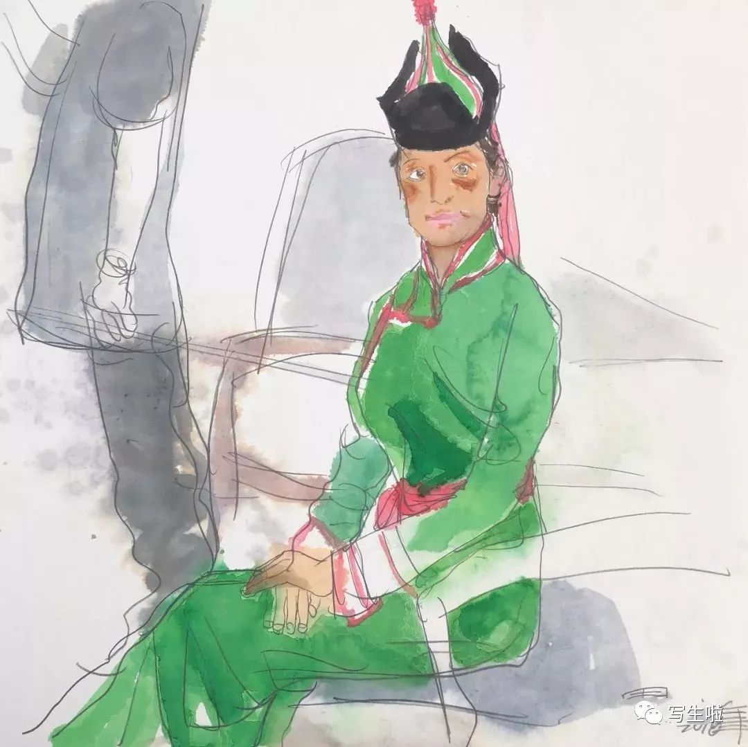 【写生啦】国美教授周刚内蒙古最新写生作品 第15张