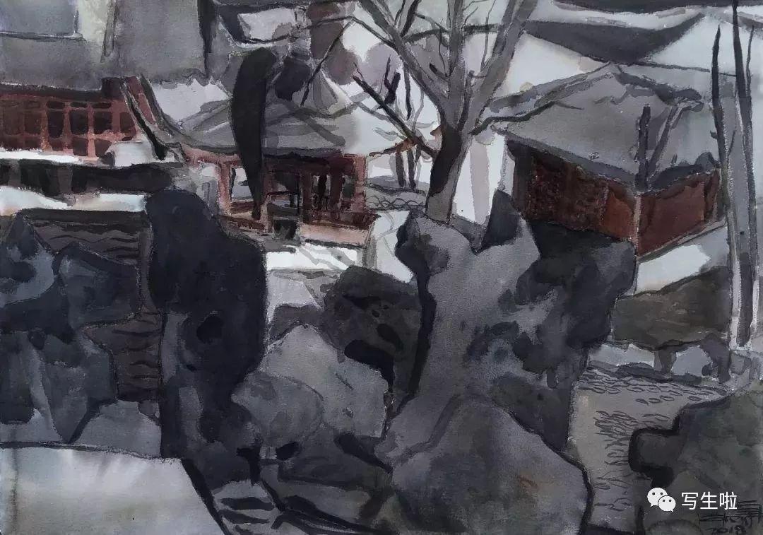 【写生啦】国美教授周刚内蒙古最新写生作品 第33张