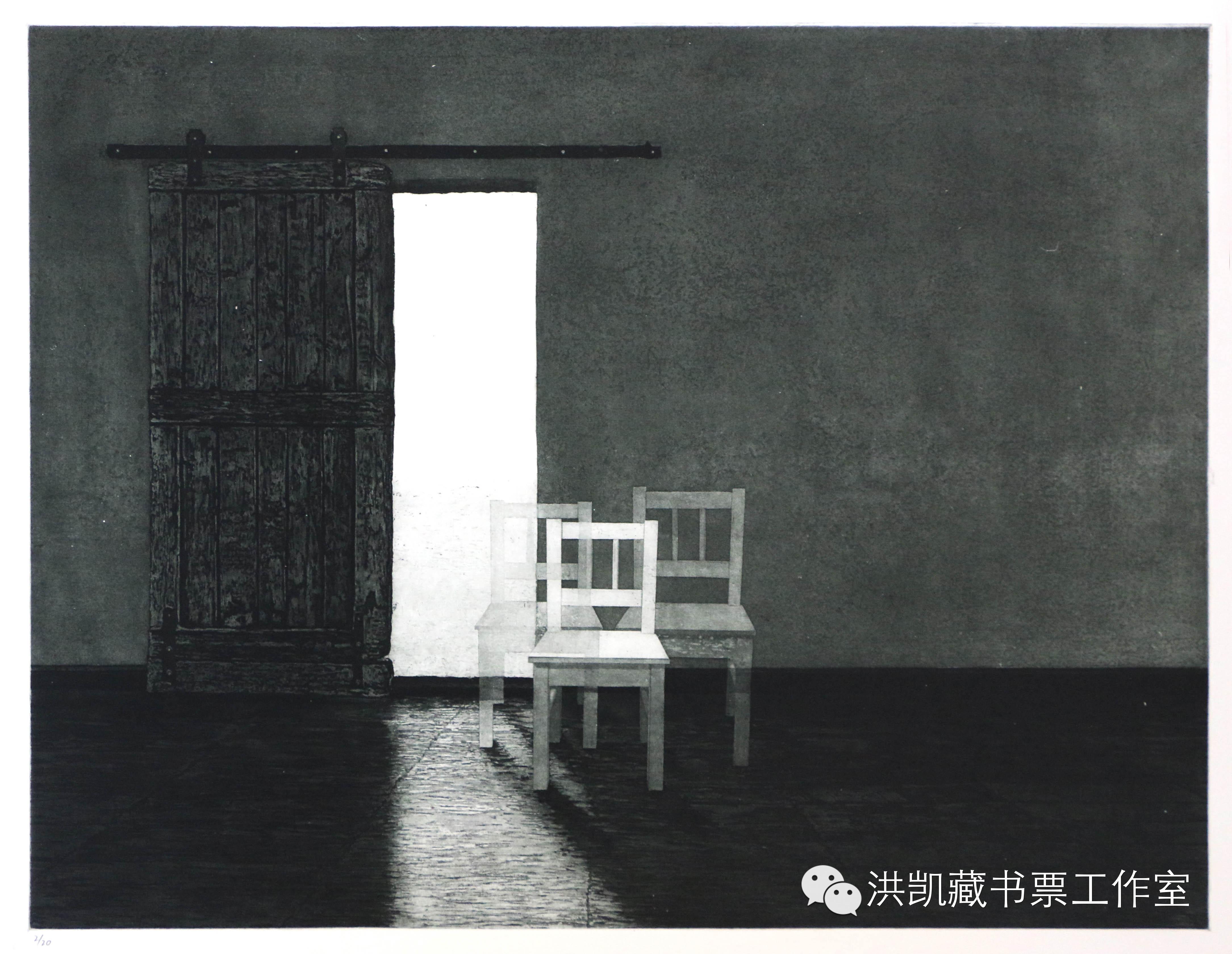 版画作品推荐002期-(内蒙古版画家)拉喜萨布哈﹒版画&藏书票作品欣赏 第5张