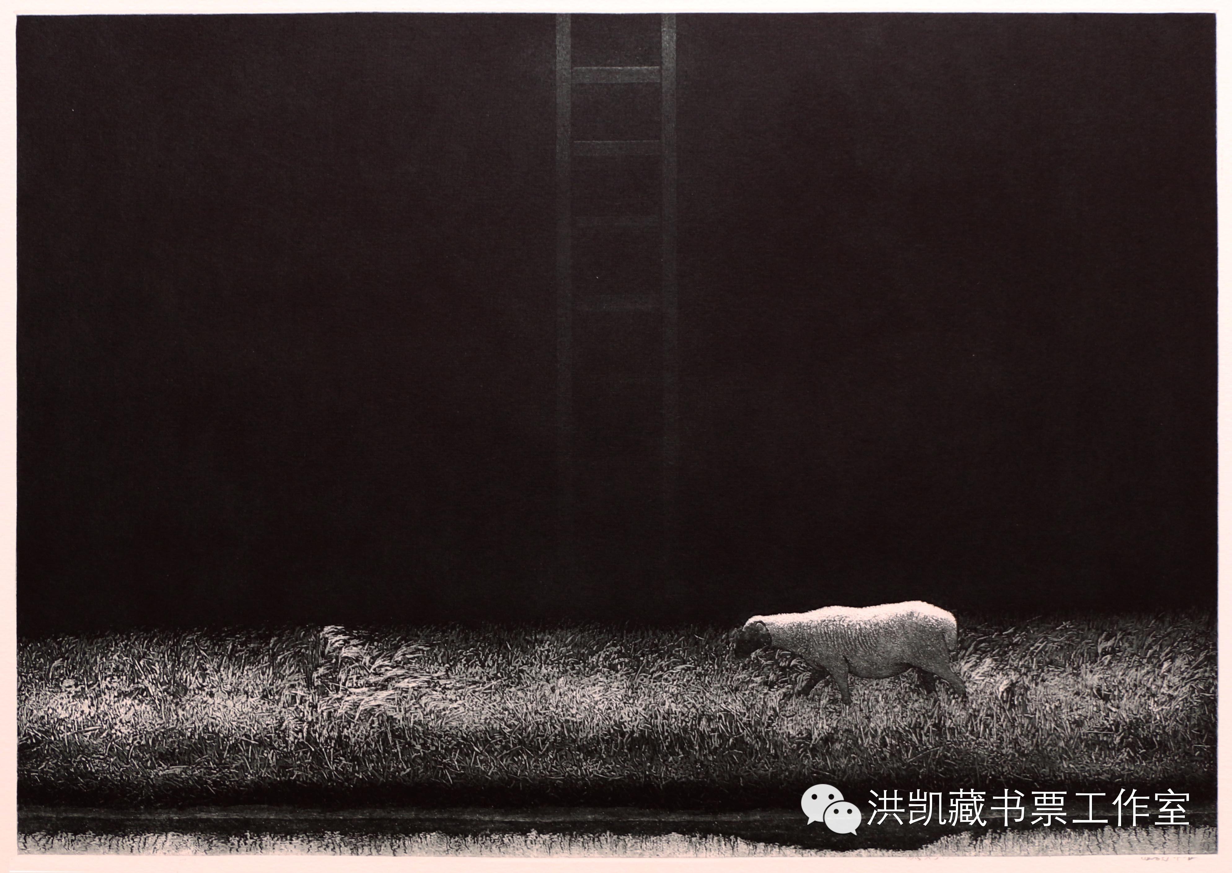 版画作品推荐002期-(内蒙古版画家)拉喜萨布哈﹒版画&藏书票作品欣赏 第12张