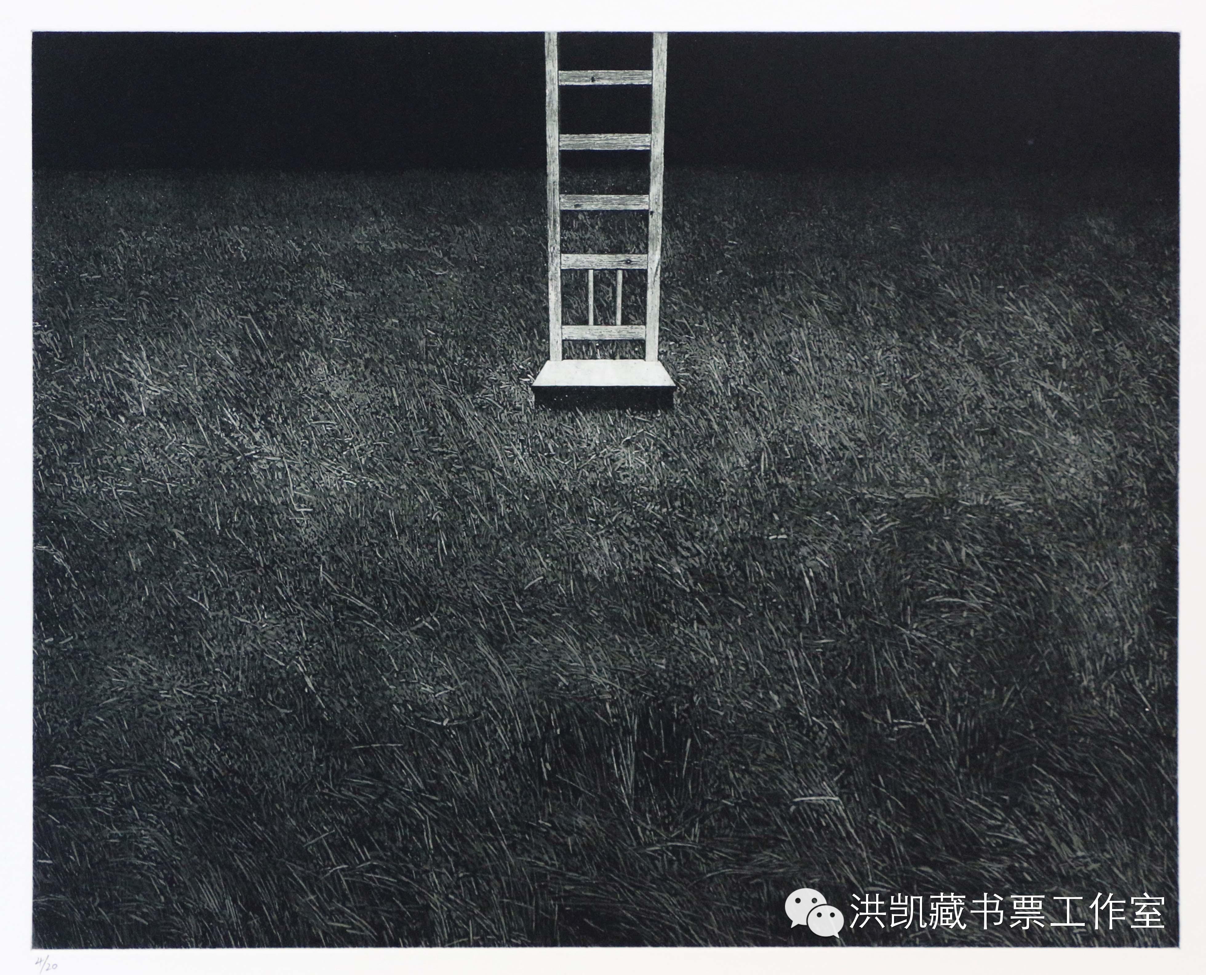 版画作品推荐002期-(内蒙古版画家)拉喜萨布哈﹒版画&藏书票作品欣赏 第11张