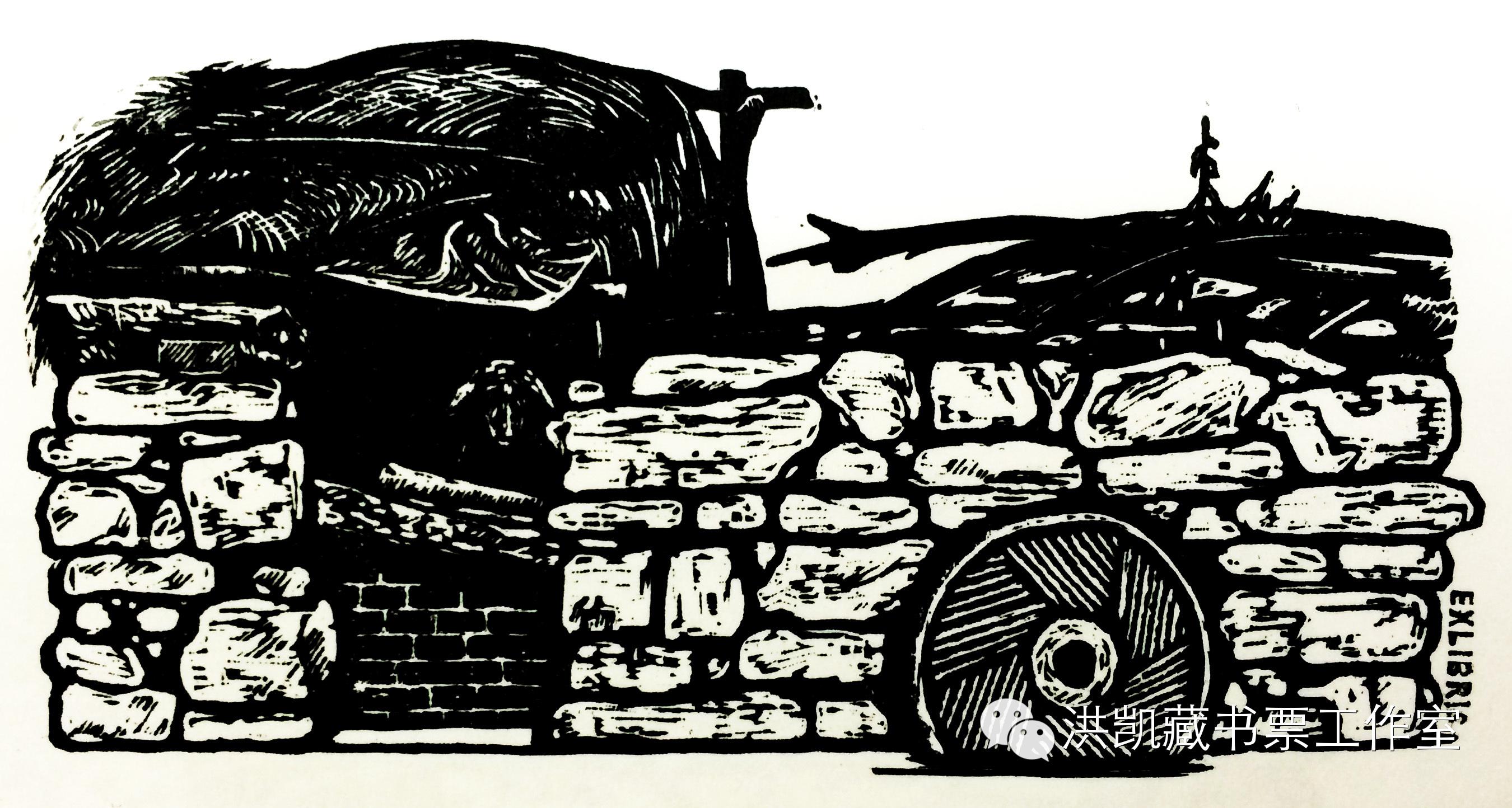版画作品推荐002期-(内蒙古版画家)拉喜萨布哈﹒版画&藏书票作品欣赏 第17张