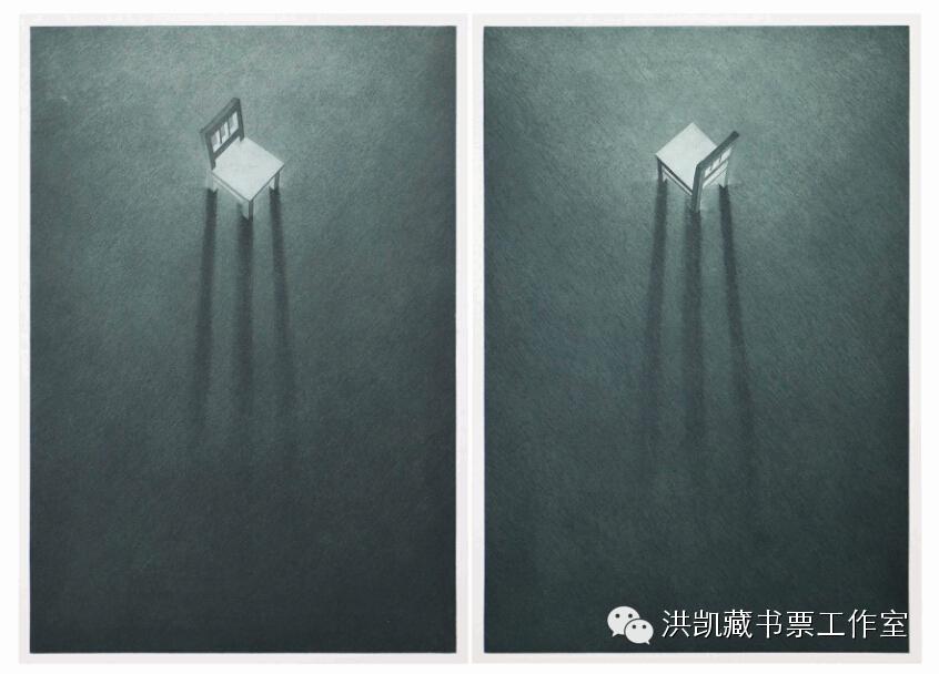 版画作品推荐002期-(内蒙古版画家)拉喜萨布哈﹒版画&藏书票作品欣赏 第19张