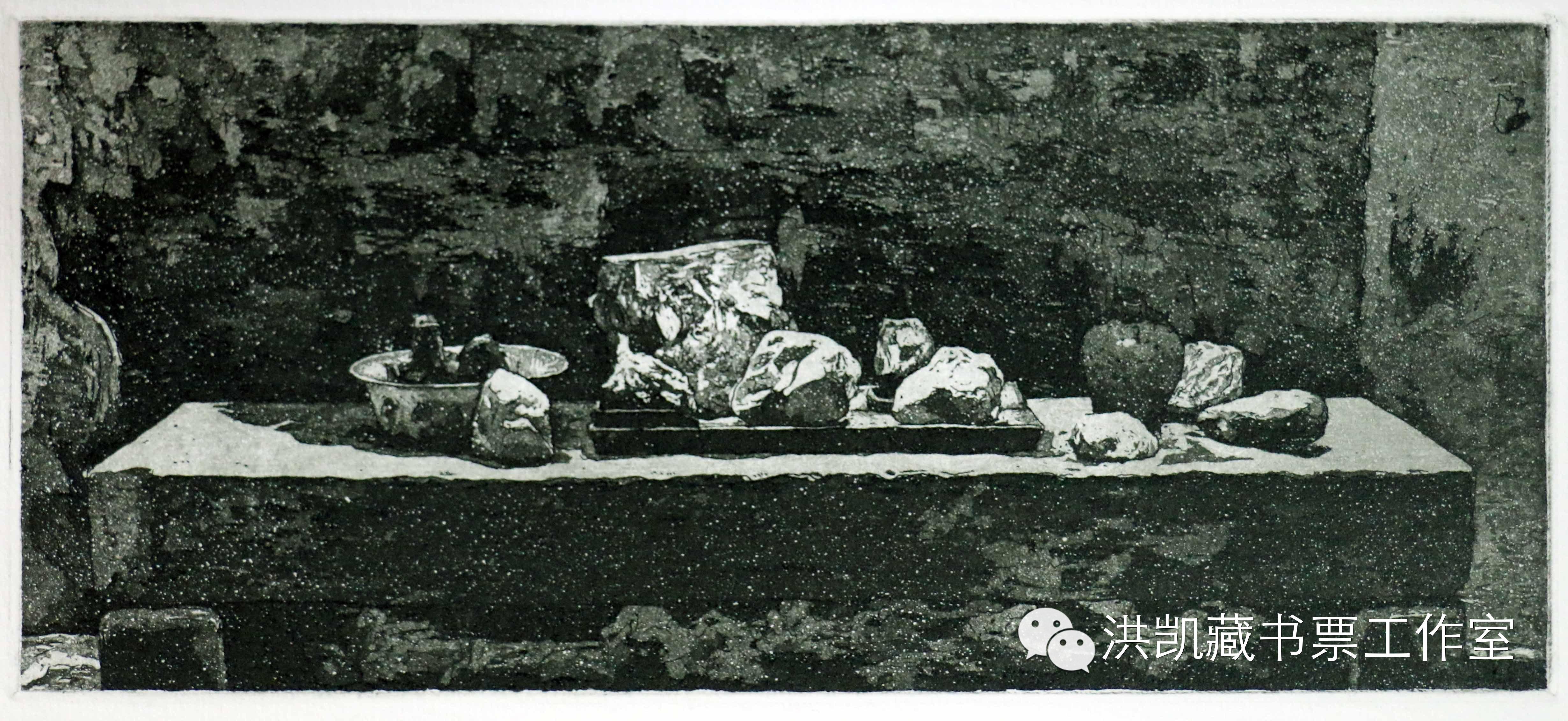 版画作品推荐002期-(内蒙古版画家)拉喜萨布哈﹒版画&藏书票作品欣赏 第20张