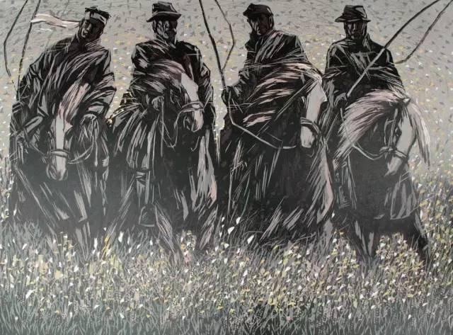 🔴内蒙古著名版画家乌恩琪-山丹的作品 第2张