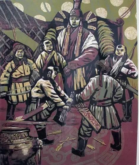 🔴内蒙古著名版画家乌恩琪-山丹的作品 第3张