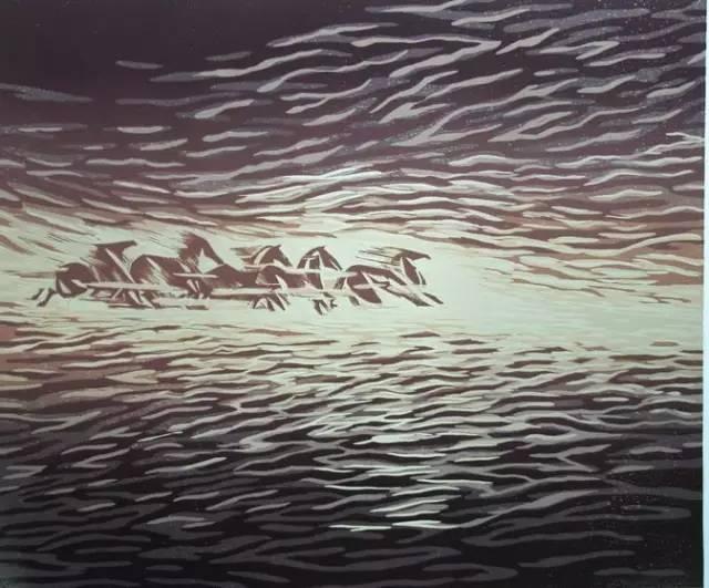 🔴内蒙古著名版画家乌恩琪-山丹的作品 第5张