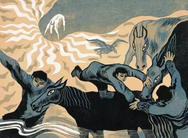 🔴内蒙古著名版画家乌恩琪-山丹的作品 第7张