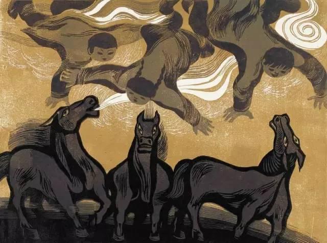 🔴内蒙古著名版画家乌恩琪-山丹的作品 第9张