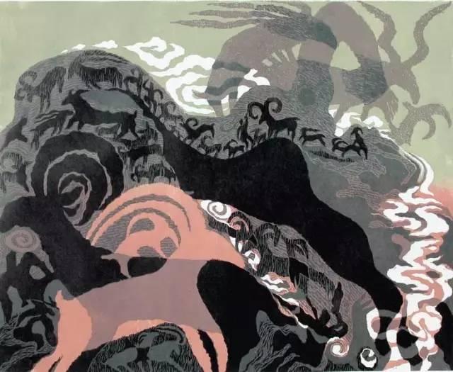 🔴内蒙古著名版画家乌恩琪-山丹的作品 第13张