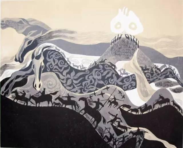 🔴内蒙古著名版画家乌恩琪-山丹的作品 第11张