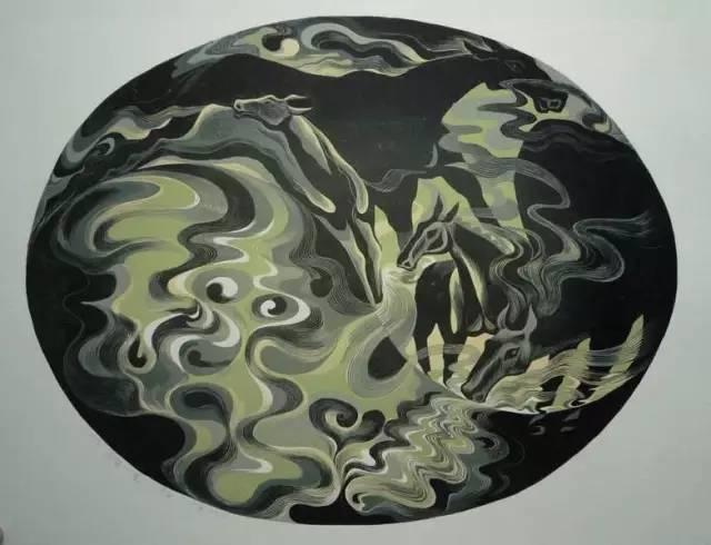 🔴内蒙古著名版画家乌恩琪-山丹的作品 第16张