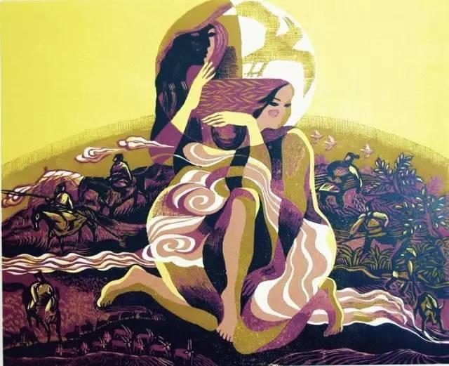 🔴内蒙古著名版画家乌恩琪-山丹的作品 第20张