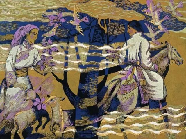 🔴内蒙古著名版画家乌恩琪-山丹的作品 第19张