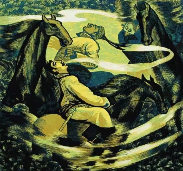 🔴内蒙古著名版画家乌恩琪-山丹的作品 第22张