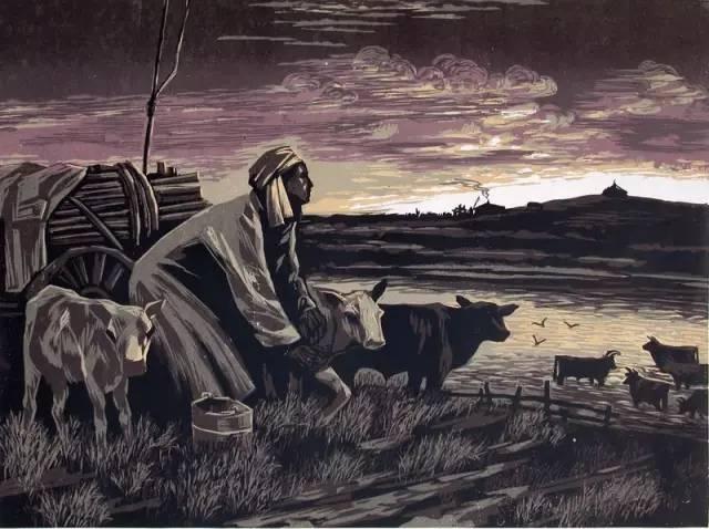 🔴内蒙古著名版画家乌恩琪-山丹的作品 第27张