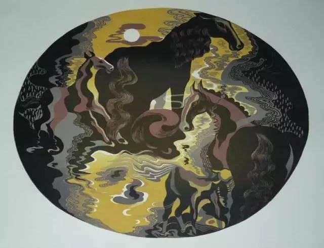 🔴内蒙古著名版画家乌恩琪-山丹的作品 第23张