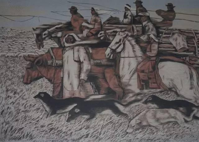 🔴内蒙古著名版画家乌恩琪-山丹的作品 第29张