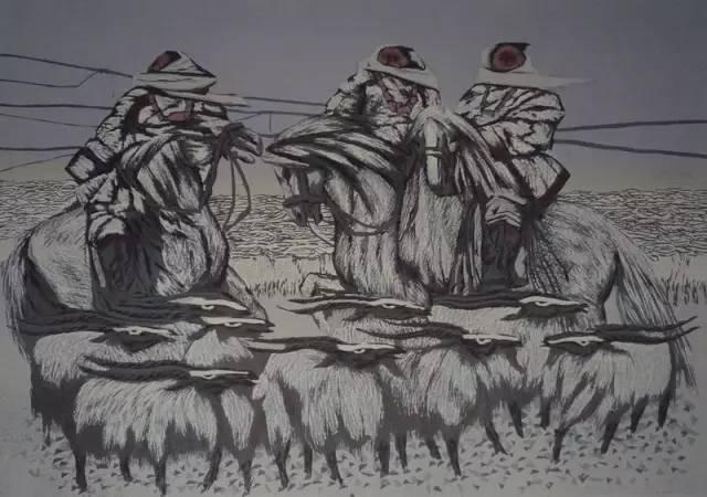 🔴内蒙古著名版画家乌恩琪-山丹的作品 第30张