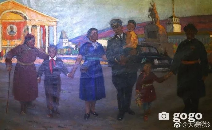 【美图】蒙古国各个时期的经典美术作品展拾萃 第6张