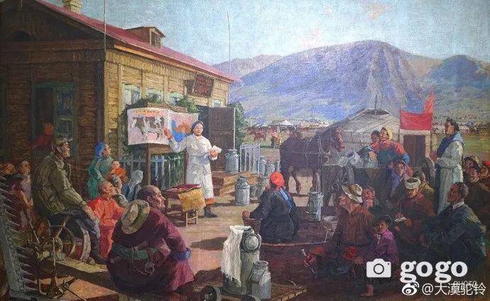 【美图】蒙古国各个时期的经典美术作品展拾萃 第12张