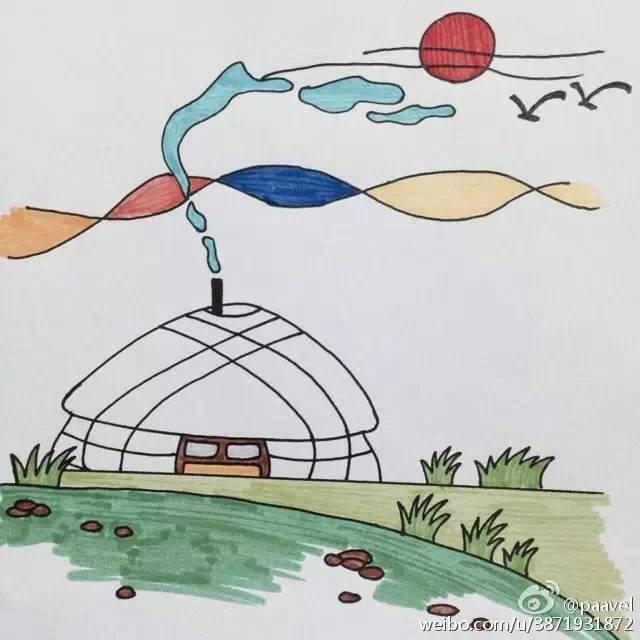 蒙古孩子简笔画 第1张