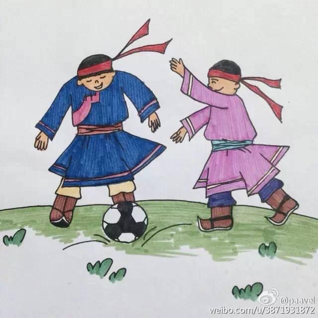 蒙古孩子简笔画 第2张