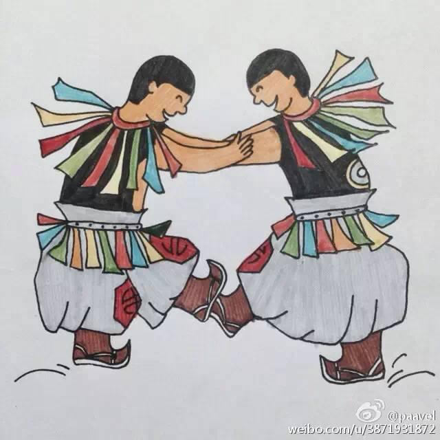 蒙古孩子简笔画 第9张