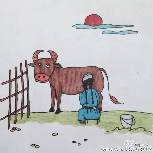 蒙古孩子简笔画 第7张